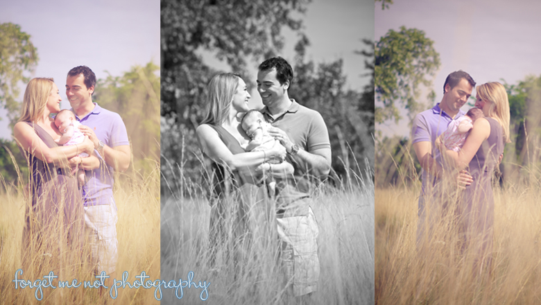 Family photoshoot in a Cotswold field in Gloucestershire